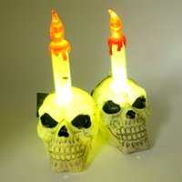 Wholesale Halloween Decoration Lamps and Lanterns of Skull Head Light Creative Skull Heads Lamp Individuality