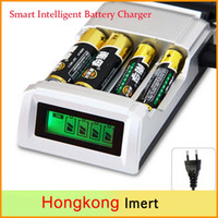 battery post adapter - Registered Post C905W Slots LCD Smart Intelligent Battery Charger for AA AAA NiCd NiMh Batteries EU and US Adapter for choose