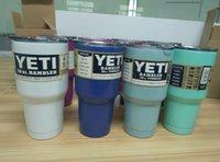 Wholesale COLORFUL YETI cup oz YETI Rambler Tumbler Cups Cars Beer Mug Mug Stainless Steel Insulation colors yeti Cup
