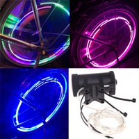 bicycle string lights - 18 LED Colorful Mountain Road MTB Bicycle Bike Cycling Wheel Spoke Flash Light m String Wire Lamp