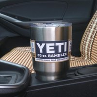 Wholesale Yeti oz Cups YETI Rambler Tumbler Travel Vehicle Beer Mug Double Wall Bilayer Vacuum Insulated Stainless Steel ml DHL