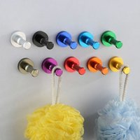 Wholesale Home decoration New Candy Color Decorative Wall hooks racks Clothes hanger Metal Towel Robe hook Bathroom Accessories HJ