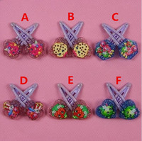 baby world shop - DHL Baby Hairpins Shop Fruits Family designs baby girls Bling Barrettes hair clips Shopping world baby ornament Hair Accessaries
