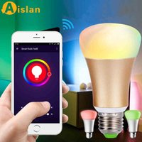 Wholesale Light Ice Blue wifi smart phone remote control color LED bulb wifi wireless dimming bulb color