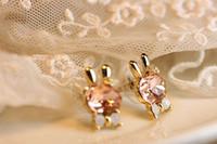 Wholesale 72129 han edition jewelry crystal gem diamond earrings earrings female rabbit ears tie earring