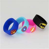 Wholesale Vapor Super Hero Vape Band Decoration Protection Rubber silicon rings for Tank bottle Mod custom silicone vape bands new ecig accessories