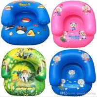 Wholesale Kids PVC Inflatable Sofa Children Playroom Cartoon Couch Chair Seats Inflatable Air Sofa Minnie Angry bird Cartoon Thicken Seat