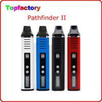 Cheap Electronic Cigarette Dry Herb Vaporizer Pathfinder II Kit V2 Vaporizer 2200mah LED Screen Original Pathfinder Pen Kit DHL free shipping