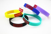 Wholesale 2016 Hot fashion supreme silicone wristbands Tide brand color silicone wristband Supreme Bracelet