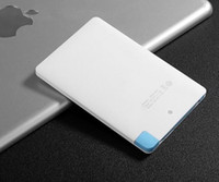 Wholesale 2000mah Cheap Ultra Thin Credit Card Power Bank power bank for all mobile phone supply Tablet PC battery with Super Light Small