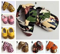 animal crossing texture - 8 Color Baby moccasins soft sole PU leather first walker shoes DHL baby tassels leopard stripe texture shoes maccasions shoes Baby First Wal