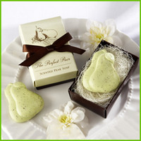 Wholesale New Creative Personality Love Pear Soap Handmade Soap For Wedding Shower Favor Wedding Favors Baby Shower Favors Small Shells Soap