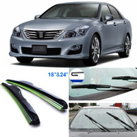 Wholesale 2pcs quot quot front windscreen windshield wiper blades Soft Rubber WindShield Wiper Blade For Toyota Crown