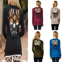 Wholesale 2016 Europe And The United States The Skull Long Sleeved Long Cardigan Thin Section Slim Type Five Colors B