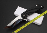 Wholesale New Whirly Polished Cr17MOV Blade steel G10 Handle Folding Pocket Knife LH