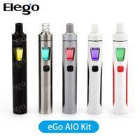 Wholesale Original Joyetech eGo AIO Starter Kit ml Capacity mAh Battery All In One Design Joyetech eGo AIO e cig Vape Kit