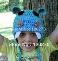 baby hippos - Children Happy Hippo Crochet Hat Earflap Baby Boys Kids Knitted Caps Cotton Infants Hat Kids Crochet Striped Beanie Honey_Baby