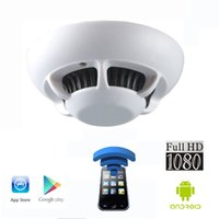 Wholesale FHD1080P WIFI IP Camera Smoke Detector Model With Spy Hidden CCTV Camera Support IR Night Vision Video Recording in Darkness IOS Android
