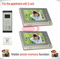 apartments photos - Two Units Apartment Color Video Door Phone Intercom Doorbell Visitor Photo Memory Duplex Also support SD card photo storage
