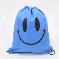 Wholesale Smile Face Storage Bag Smiling face Waterproof Travel bags Unisex Outdoor travel bags Outdoor face Drawstring bag colors D376 WA0349