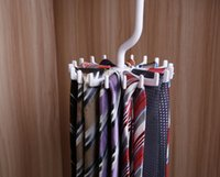 Wholesale High grade plastic tie rack round harvesting convenient can rotate large silk scarves belt environmental hook