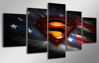 abstract art pics - 5 Panel HD Printed Movie Superman Art PIC Painting Canvas Print room decor print poster picture canvas wall art
