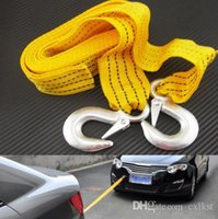 Wholesale 3 Tons Car Tow Cable Towing Strap Rope with Hooks Emergency Heavy Duty FT Newest Good Quality Brand New