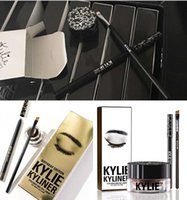 Wholesale New Arrival Kylie Cosmetics Kylie Kyliner In Brown AND Black Kyliner Kit Birthday Edition Dark Bronze Set DHL KYLIE KIT