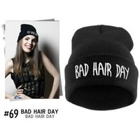 bad models - Foreign trade explosion models Bad Hair Day Beanie hat hiphop hat knitted wool cap colors