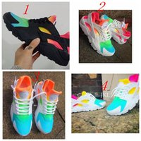 Wholesale 2016 New Air Huarache Running Shoes Huaraches Rainbow Ultra Breathe Shoes Men Women Air Huaraches Multicolor Sneakers Size With Box
