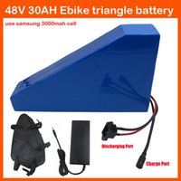 Wholesale 1400W V AH triangle battery V W Lithium battery V EBike battery Use samsung cell with Free bag A BMS A Charger
