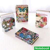 Wholesale Mysterious skull notebook Metal cover diary book Demon Hard copybook for agenda planner sketch Caderno School supplies