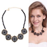 ancient names - European and American wind restoring ancient ways is exaggerated flower clavicle necklace for foreign trade the original single big name clo