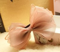 Wholesale elegant cute new design ribbon hair bow banana clip styles of hair accessory for thick hair