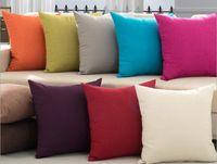Wholesale Cushion Decorative Pillow Solid Linen Color Options