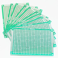 Wholesale 10PCS Prototype PCB Board Protoboard Tinned Universal Breadboard Prototyping Solderless FR4 PCB Double Sided x7 cm x70mm FR4