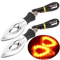 Wholesale 12LED SMD Mini Motorcycle Motorbike Arrow Turn Signal Indicators Blinker Amber Light V Universal for Honda for kawasaki