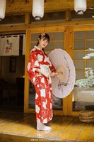 Cheap The Japanese red retro girl dress female kimono bathrobes made in china