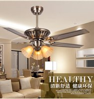 Wholesale Antique pendant fan lights LED decorative fan pendant lights living room remote control restaurant fan light pendant
