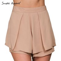 beach skort - boho pleated chiffon elegant shorts women Summer style high waist sexy fitness skort Beach black girls shorts