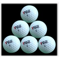 Wholesale PGM Outdoor Sport Golf Game Training Match Competition Rubber Three Layers High Grade Golf Ball White