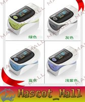 Wholesale DY82 OLED Fingertip Pulse Oximeter alarm Spo2 Blood Monitor directions modes colors available blue grey pink purple green English Span