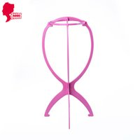 Wholesale Cheap Wig Stands Plastic Folding Stable Durable Hair Wig Stand Hat Cap Stand Holder Display Tool Portable Wig Stand Head Epacket