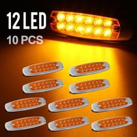 Wholesale 10pc quot LED Marker Clearance Light LED Pigtail Connector Amber Trailer Light
