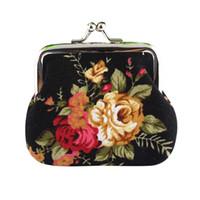 bar purse - Hot Women Cute Coin Purse Retro Vintage Flower Canvas Small Wallet Girls Change Pocket Pouch Hasp Keys Bag Metal Bar Opening New