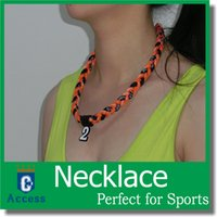 Wholesale Titanium Germanium Ropes Braid Tornado Necklaces Sport Energy Necklace team necklace