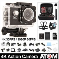 Wholesale Action camera F60 Allwinner V3 K fps P fps WiFi quot D Helmet Cam underwater go waterproof pro camera K camera