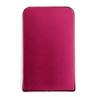 Wholesale 2 Inch USB Ultra Slim SATA Hard Drive Disk HDD External Enclosure Cover Box Red