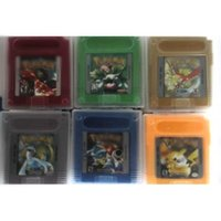 Wholesale via DHL EMS English language gameboy cartridges poke gbc games green yellow red silver gold blue Version