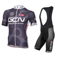 Wholesale GCN Hot Sale Cycling Jerseys Summer Short Sleeve Bicycle Clothing Maillot Ciclismo Gel Padded Bib None Bib Shorts Black Quick Dry Suit